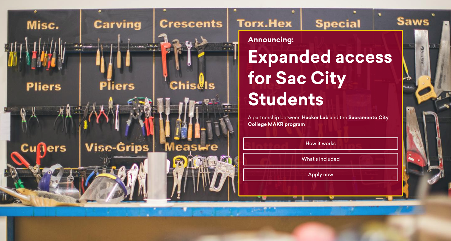 Hacker Lab Expands Access for  Sacramento City College Students