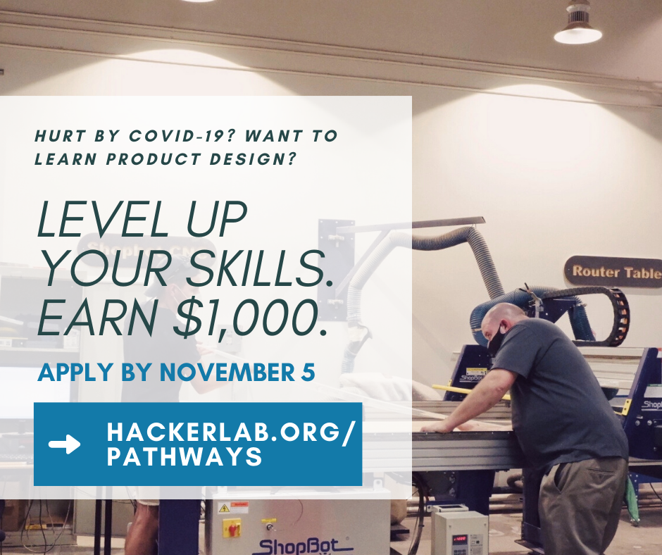 Hacker Lab launches $1,000 stipend program to level up skills for those hurt by COVID-19. Applications due November 5